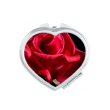 Dark Red Roses Flowers Heart Compact Makeup Pocket Mirror Portable Cute Small Hand Mirrors Gift