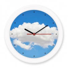 Blue Sky Sunshine White Clouds Silent Non-ticking Round Wall Decorative Clock Battery-operated Clocks Gift Home Decal