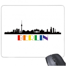 LGBT Rainbow Flag Berlin Mouse Pad Non-Slip Rubber Mousepad Game Office
