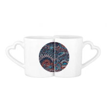 Abstract Seamless Texture Fish Animal Lovers' Mug Lover Mugs Set White Pottery Ceramic Cup Gift with Handles