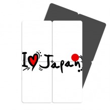 I Love Japan Word Flag Love Heart Refrigerator Magnet Puzzle Home Decal Magnetic Stickers (set of 4)