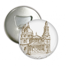 St.Paul's Cathedral England London Round Bottle Opener Refrigerator Magnet Pins Badge Button Gift 3pcs