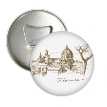 Florence Cathedral Italy Pattern Round Bottle Opener Refrigerator Magnet Pins Badge Button Gift 3pcs