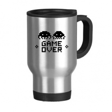 Game Over Little Monster Pixel Stainless Steel Travel Mug Travel Mugs Gifts With Handles 13oz