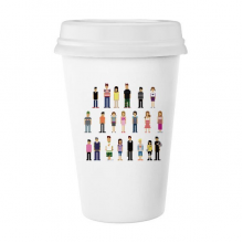 Game Characters Pairs Pixel Classic Mug White Pottery Ceramic Cup Gift 350 ml