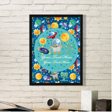 Universe And Alien In The Space Simple Picture Frame Art Prints Paintings Home Wall Decal Gift