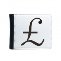 Currency Symbol Pound Flip Bifold Faux Leather Wallet  Multi-Function Card Purse Gift