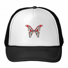 3D Butterfly in Red&Blue colour Trucker Hat Baseball Cap Nylon Mesh Hat Cool Children Hat Adjustable Cap Gift