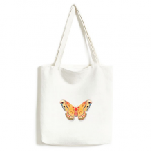 3D Chinese Butterfly in Orange colour Canvas Bag Environmentally Tote Large Gift Capacity Shopping Bags