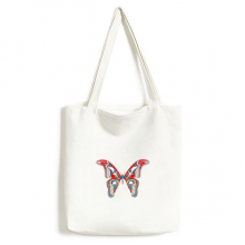 3D Butterfly in Red&Blue colour Canvas Bag Environmentally Tote Large Gift Capacity Shopping Bags