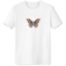 3D Kite Butterfly in Chinese Style Crew-Neck White T-shirt Spring Summer Tagless Comfort Sports T-shirts Gift