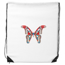 3D Butterfly in Red&Blue colour Drawstring Backpack Shopping Handbag Gift Sports Bags