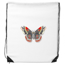 3D Kite Butterfly in Chinese Style Drawstring Backpack Shopping Handbag Gift Sports Bags