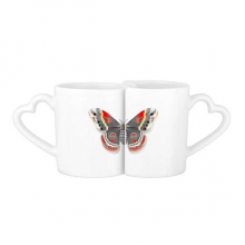 3D Kite Butterfly in Chinese Style Lovers' Mug Lover Mugs Set White Pottery Ceramic Cup Gift with Handles