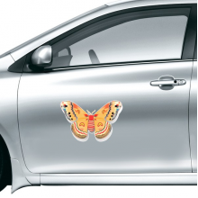 3D Chinese Butterfly in Orange colour Car Sticker on Car Styling Decal Motorcycle Stickers for Car Accessories Gift