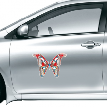 3D Butterfly in Red&Blue colour Car Sticker on Car Styling Decal Motorcycle Stickers for Car Accessories Gift