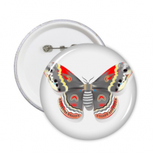 3D Kite Butterfly in Chinese Style Round Pins Badge Button Clothing Decoration Gift 5pcs