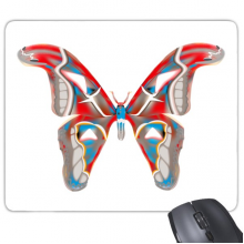 3D Butterfly in Red&Blue colour Rectangle Non-Slip Rubber Mousepad Game Mouse Pad Gift