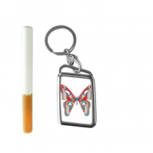 3D Butterfly in Red&Blue colour Cigarette Lighter USB Electric Arc Metal Flameless Rechargeable Windproof Lighter Gift