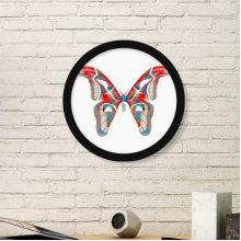 3D Butterfly in Red&Blue colour Round Picture Frame Art Prints of Paintings Home Wall Decal Gift