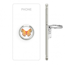 3D Chinese Butterfly in Orange colour Metal Rotation Ring Stand Holder Bracket for Smartphones Cell Phone Support Accessories Gift
