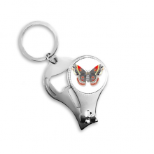 3D Kite Butterfly in Chinese Style Metal Key Chain Ring Multi-function Nail Clippers Bottle Opener Car Keychain Best Charm Gift