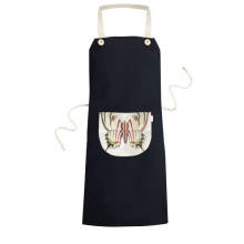 3D Chinese Butterfly Exaggerated Cooking Kitchen Black Bib Aprons With Pocket for Women Men Chef Gifts