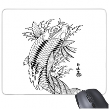 Fish Playing Swimming Sea Seaw Mouse Pad Non-Slip Rubber Mousepad Game Office