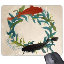 Quoting Word Fish Image Sea Weed Mouse Pad Non-Slip Rubber Mousepad Game Office