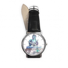 Amida Blessing in Asia Quartz Analog Wrist Business Casual Watch with Stainless Steel Case Gift