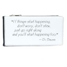 If Things start Happening Dr.Seuss Multi-Card Faux Leather Rectangle Wallet Card Purse Gift