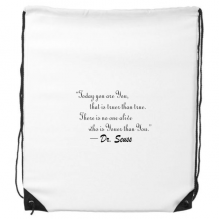 No One Is Youer Than You Dr.Seuss Drawstring Backpack Shopping Gift Sports Bags