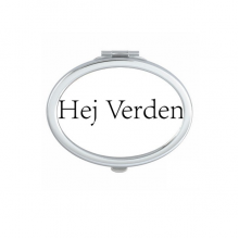 Hello World Danish Oval Compact Makeup Pocket Mirror Portable Cute Small Hand Mirrors Gift