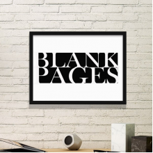 Stylish Characters Blank Pages Simple Picture Frame Art Prints Paintings Home Wall Decal Gift