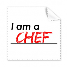 Quote I Am A Chef Glasses Cloth Cleaning Cloth Gift Phone Screen Cleaner 5pcs