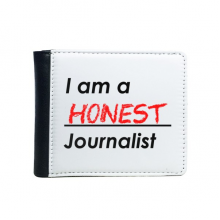 Quote I Am A Honest Journalist Flip Bifold Faux Leather Wallet  Multi-Function Card Purse Gift