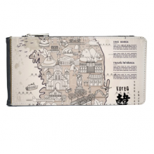 1945 South Korea Landmarks  Map Multi-Card Faux Leather Rectangle Wallet Card Purse Gift