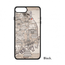 1945 South Korea Landmarks  Map iPhone 7/7 Plus Cases iPhonecase  iPhone Cover Phone Case Gift