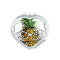 Headset Pineapple Sunglasses Fruit Heart Compact Makeup Pocket Mirror Portable Cute Small Hand Mirrors Gift