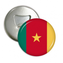 Cameroon National Flag Africa Country Round Bottle Opener Refrigerator Magnet Pins Badge Button Gift 3pcs