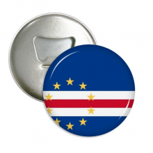 Cape Verde National Flag Africa Country Round Bottle Opener Refrigerator Magnet Pins Badge Button Gift 3pcs