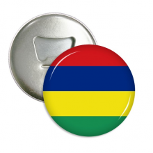 Mauritius National Flag Africa Country Round Bottle Opener Refrigerator Magnet Pins Badge Button Gift 3pcs