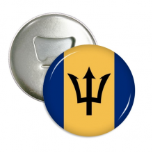 Barbados National Flag North America Country Round Bottle Opener Refrigerator Magnet Pins Badge Button Gift 3pcs
