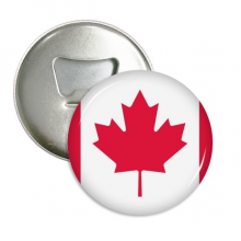 Canada National Flag North America Country Round Bottle Opener Refrigerator Magnet Pins Badge Button Gift 3pcs