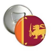 Sri Lanka National Flag Asia Country Round Bottle Opener Refrigerator Magnet Pins Badge Button Gift 3pcs