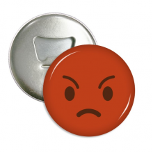 Angry Red Cute Online Chat Happy Bottle Opener Fridge Magnet Emblem Multifunction Badge