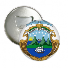 Costa Rica National Emblem Country Round Bottle Opener Refrigerator Magnet Pins Badge Button Gift 3pcs