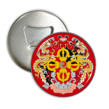 Bhutan National Emblem Country Round Bottle Opener Refrigerator Magnet Pins Badge Button Gift 3pcs