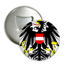 Austria National Emblem Country Round Bottle Opener Refrigerator Magnet Pins Badge Button Gift 3pcs
