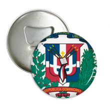 Dominican Republic National Emblem Country Round Bottle Opener Refrigerator Magnet Pins Badge Button Gift 3pcs